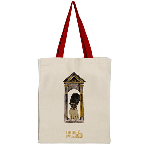 """Royal Doggies"" Tote Bag: Pug"