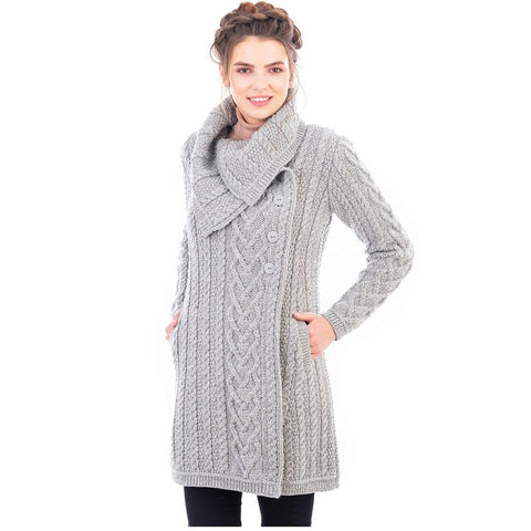 Merino Wool Aran Cable Coat
