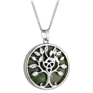 Connemamra Marble Tree of Life Pendant and Necklace