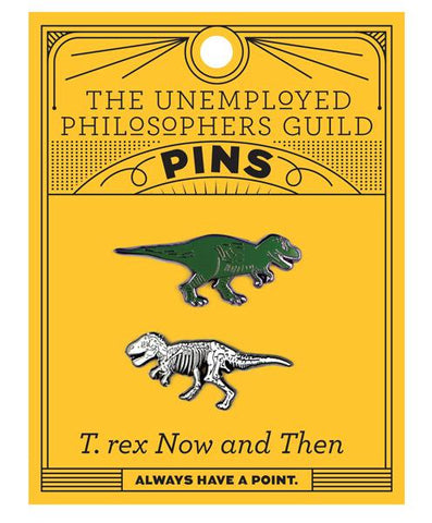 T. Rex Now and Then Enamel Pins