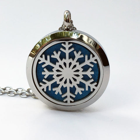 Aromatherapy Locket and Necklace: Snowflake
