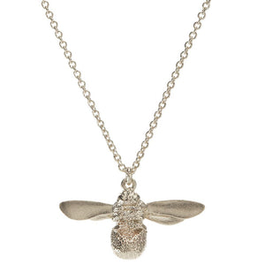 Baby Bee Necklace: Silver