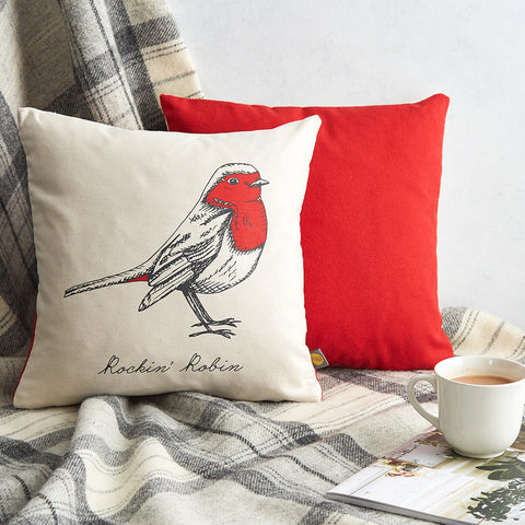 Christmas Delights Robin Cushion