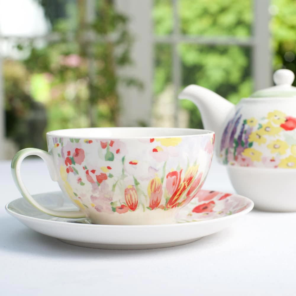 Churchill Painted Garden Tea-for-One