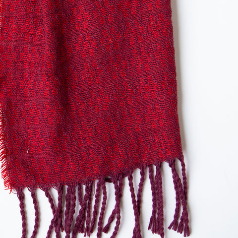 County Wicklow Cashmere Scarf: Boffin Red