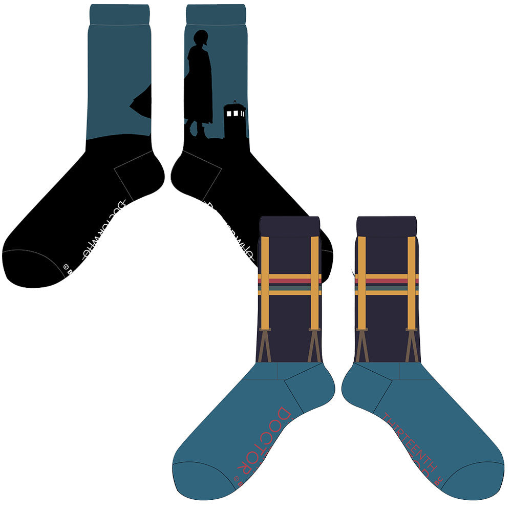 Doctor Who: Thirteenth Doctor Crew Socks: 2 pack