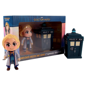 Doctor Who: Thirteenth Doctor Kawaii and TARDIS Titan Figurines
