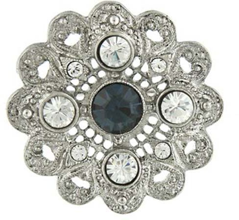 Downton Abbey Sapphire Blue Crystal Blossom Brooch