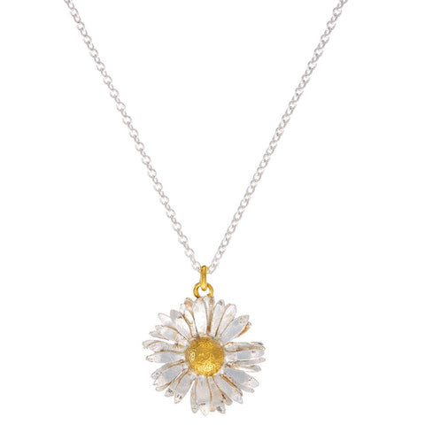 English Daisy Pendant and Necklace