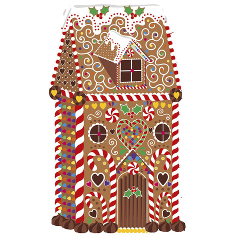 Festive Gingerbread House Wooden Jigsaw Puzzle