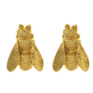 Honeybee Stud Earrings: Gold Plate