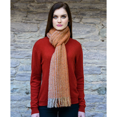 Irish Alpaca Scarf: Burnt Orange