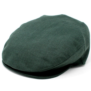 Irish Linen Flat Cap: Green