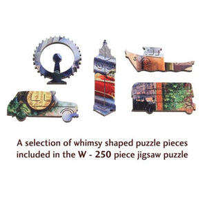 London Life is an Open Book Wooden Jigsaw Puzzle