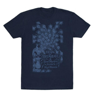 Pride & Prejudice Peacock Book Cover T-Shirt