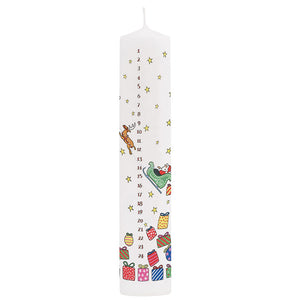 Santa's Sleigh Advent Pillar Candle