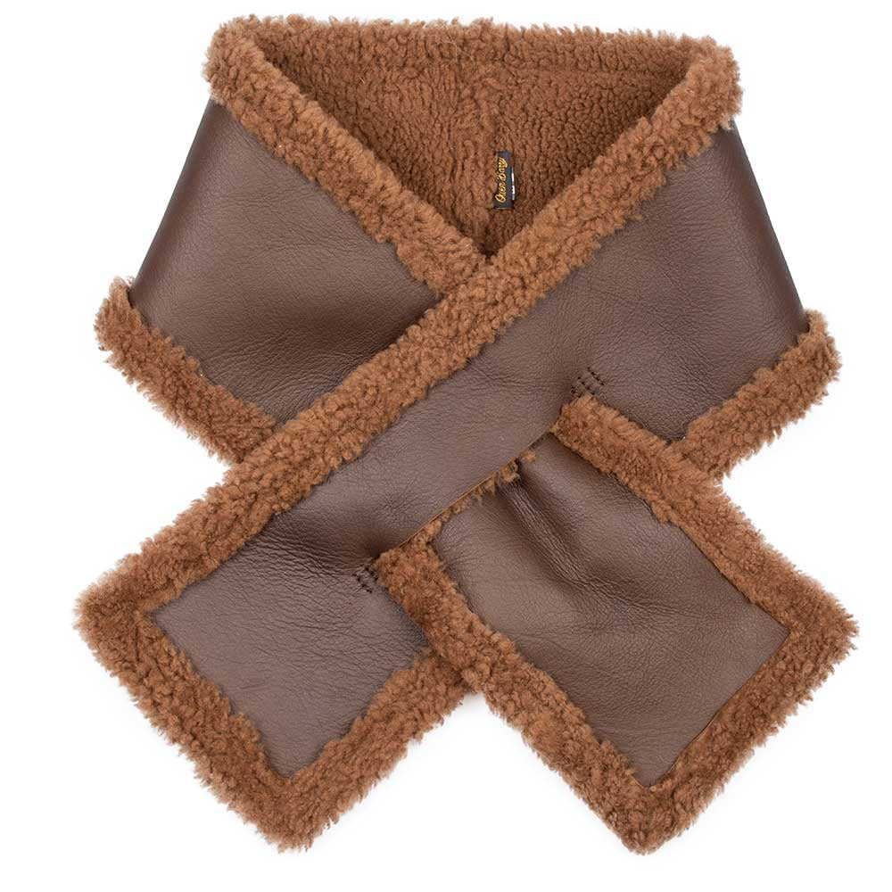Shearling Neck Wrap: Caramel