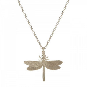 Silver Dragonfly Pendant and Necklace by Alex Monroe