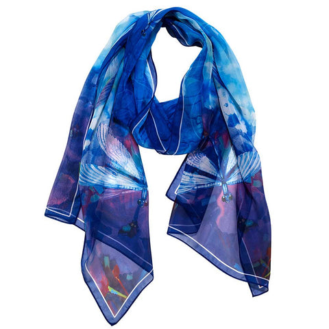 Stained Glass Dragonfly Scarf