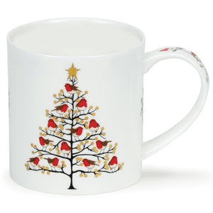 Dunoon Robins and Berries Festive Tree Mug