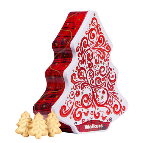 Walkers Christmas Tree Shortbread and Tin