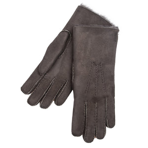 Women's Shearling Gloves: Charcoal Grey
