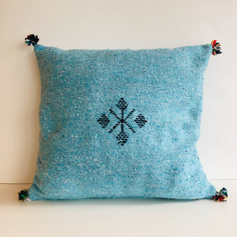 Moroccan Handloom Cushion Cover : Sky Blue