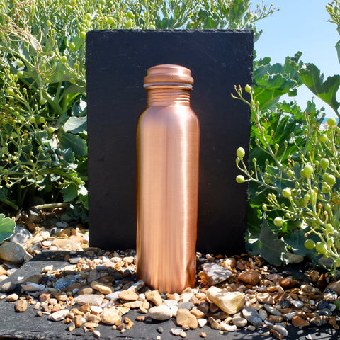 Ayurvedic Copper Water Bottle - 1ltr - Lacquered