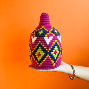 Moroccan Wool Pot :  Small : No. 02