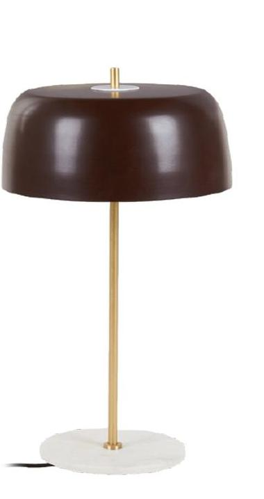 Marble Table Lamp Brown 28x28x56 cm - Noirhome