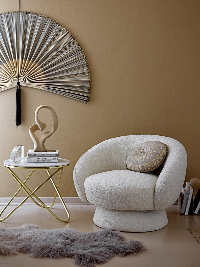 Bloomingville Teddy fauteuil offwhite PRE -ORDER - Noirhome