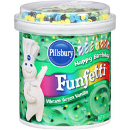 Pillsbury Happy Birthday Funfetti Vibrant Green Vanilla Frosting (442g)