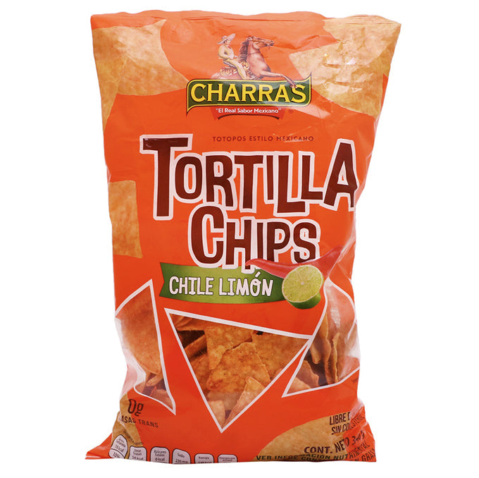 Charras Tortilla Chips, Chili Lemon (340g)