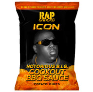 Rap Snacks Icon, Notorious B.I.G. Cookout BBQ Sauce Chips (78g)