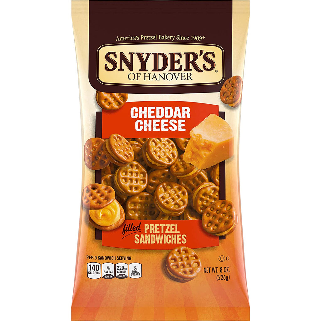 Snyder's Pretzel Sandwiches, Cheddar Cheese (Large) (226g)