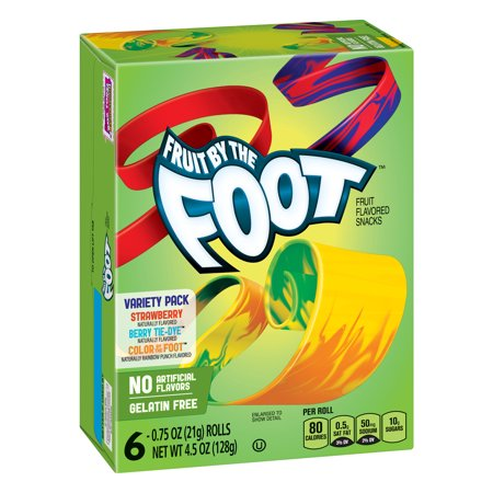Betty Crocker Fruit By the Foot, Variety Pack (6 Rolls) (128g) (BEST-BY 02-11-2018)