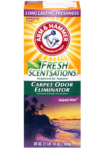 Arm & Hammer Fresh Scentsations Carpet Odor Eliminator  Island Mist (850g)