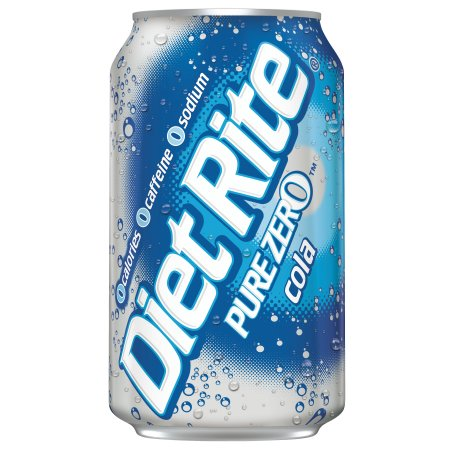 Diet Rite Pure Zero Cola (355ml)