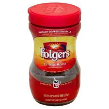 Folgers Classic Roast Instant Coffee (85g)