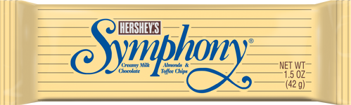 Hershey's Symphony Creamy Milk Chocolate Almonds & Toffee Chips (42g)