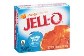Jell-O Sugar Free Gelatin Dessert, Orange (8.5g)