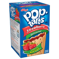 Kellogg's PopTarts Strawberry (unfrosted) (Best By 08-07-2016)