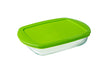 Cook & Store Glass Rectangular Dish shallow version High resistance with lid