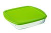 Cook & Store Glass Square Dish shallow version High resistance with lid
