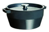 SlowCook Cast iron grey oval Casserole - compatible with oven and induction hobs - 33 cm
