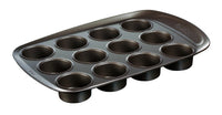 asimetriA Metal Easy-grip 12 Cups muffin tray