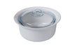Supreme Pure white Round Casserole with glass lid - Ceramic - Ø26 cm - 2,5L