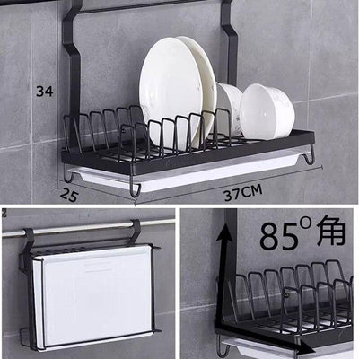 304 Stainless Steel Dish Rack Wall Kitchen Shelf Drain