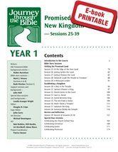 Journey through the Bible, Year 1 Sessions 25-39 - Promised Land and New Kingdom - (EPDF)