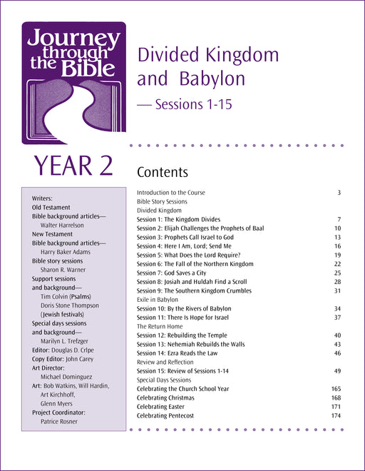 Divided Kingdom and Babylon - Journey through the Bible, Year 2 Sessions 1-15 (EPDF)